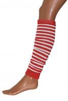 Gestreifte Pommy Beinstulpen In Rot Und Weiß