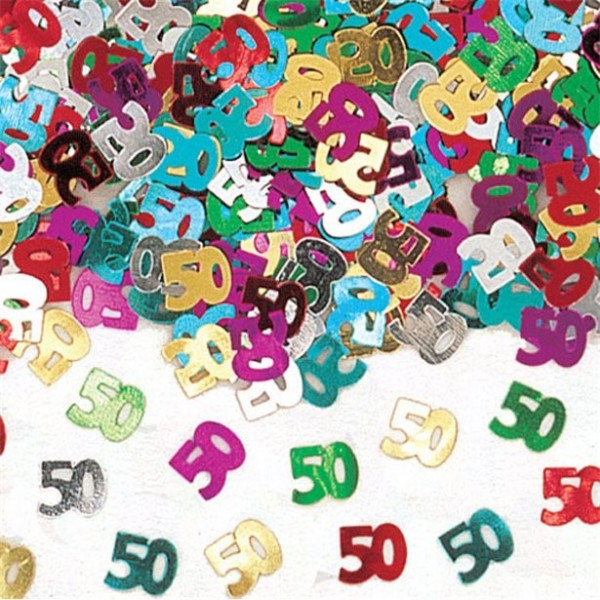 50th birthday colorful confetti 14g