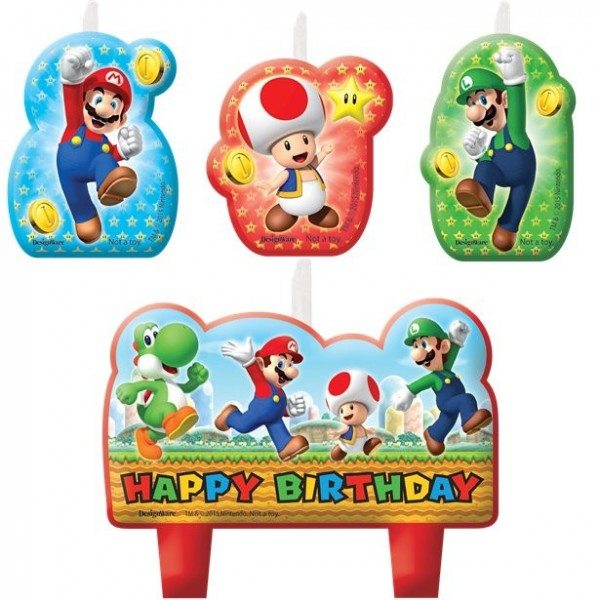 4 velas para tarta de Super Mario World