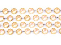 Crystal pearl hanger gold 1m
