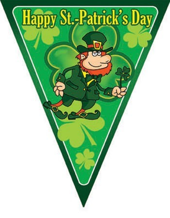 Lucky St. Patricks Day Wimpelkette 5m