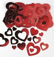 Romantische Herz Streudeko rot 14g