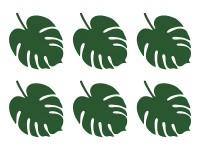 6 Grüne Palmblatt Tischkarten