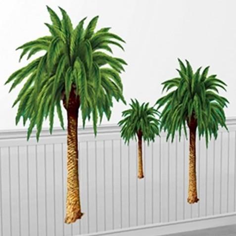 6 Hawaiianische Palmen Wandposter