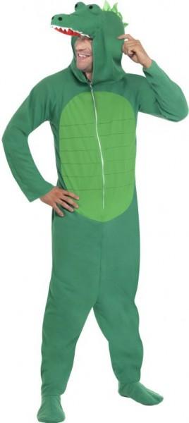 Jumpsuit Krokodilskostüm Mit Kapuze Unisex Grün