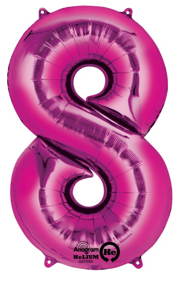 Number balloon 8 pink 83cm
