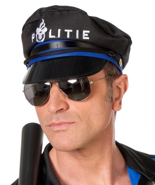 Spiegelnde Pilotenbrille Polizistenbrille
