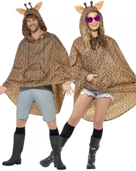 Brauner Giraffen Party Poncho