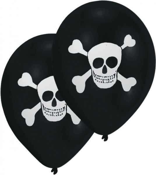8 Pirates Globos Scary Skull