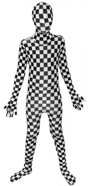 Schwarz-Weiß Karierter Kindermorphsuit