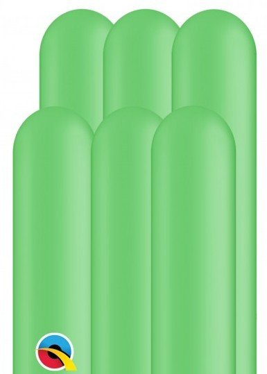 100 modeling balloons 260Q apple green 1.5m