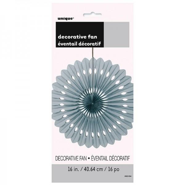 Decorative fan flower silver 40cm