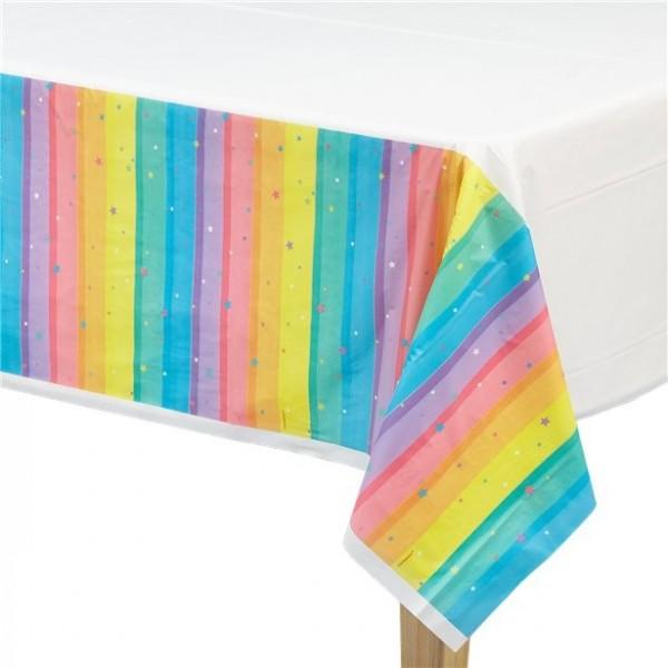Regenbogen Tischdecke abwischbar 1,4 x 2,4m