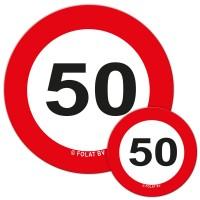 Verkehrsschild 50 Streudeko