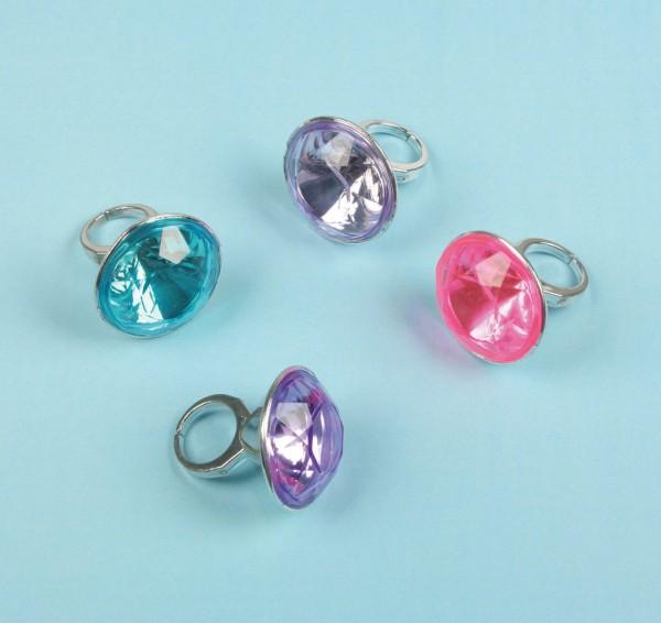 Edle Kronjuwelen XL Diamant Ring 8 Stück