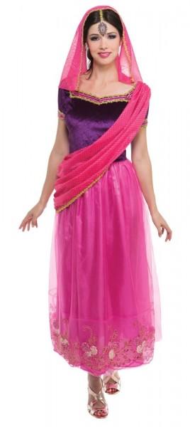 Pinkfarbener Indischer Bollywoodtraum Sari
