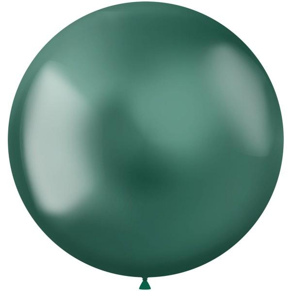 5 Shiny Star XL Luftballon grün 48cm