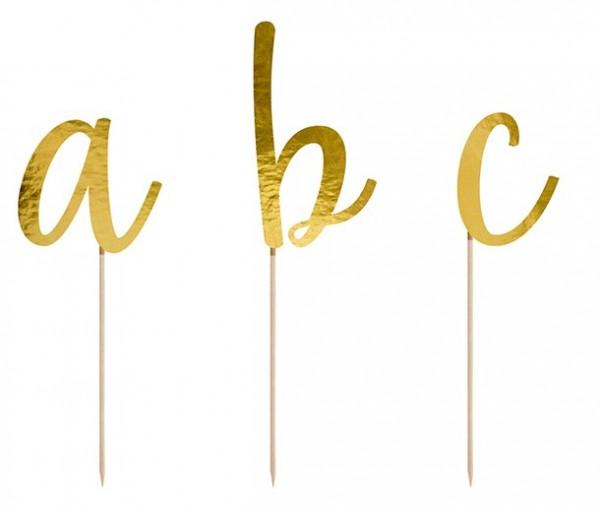 Goldene Buchstaben Tortendeko 53-teilig 3