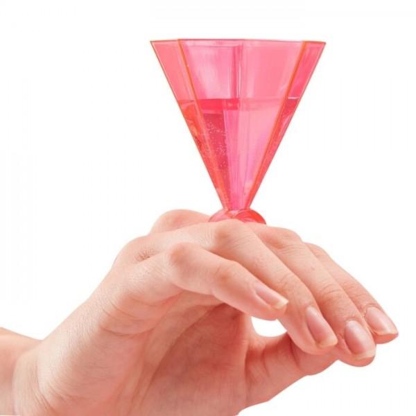 6 bagues en verre à shot diamant