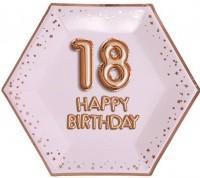 8 Glamour Pappteller zum 18. Geburtstag 27cm