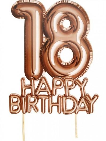Glorious 18ème décoration de gâteau d'anniversaire 21cm