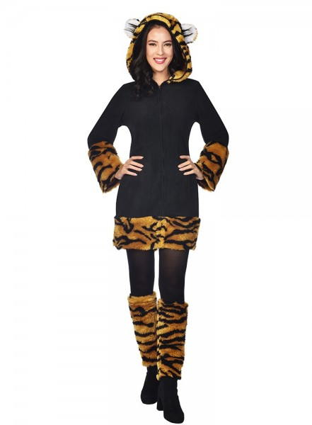 Tiger Lady Kostüm Damen