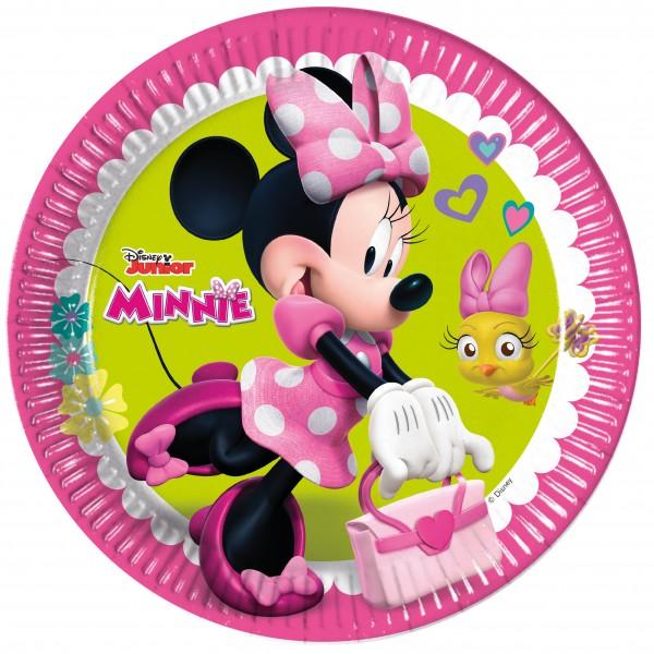 8 Minnie Mouse Pappteller 23cm