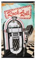 Rock & Roll Fieber Flagge 150 x 90cm