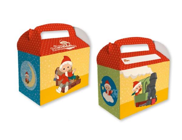 8 Sandmännchen Geschenkboxen mit Namensfeld