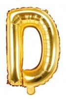 Folienballon D gold 35cm