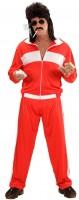 Roter 80er Jahre Jogginganzug für Herren