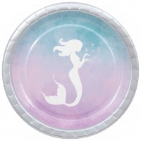 8 Mermaid Adventure Pappteller 23cm