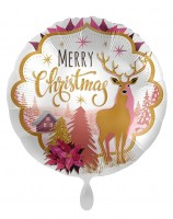 Weihnachts-Folienballon Reindeerland 45cm