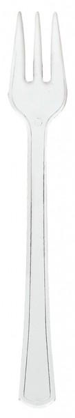 40 transparent cake forks 10.4cm