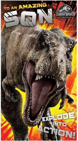 Jurassic World Geburtstagskarte Sohn