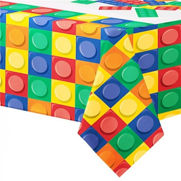 Colorful brick tablecloth 2.6 x 1.37m