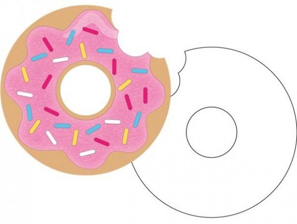 8 Donut Candy Shop Einladungskarten