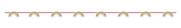 Regenboog feestslinger 2,1 m