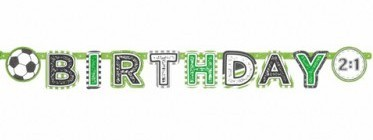 Happy Birthday Girlande Kicker-Party 2m 4