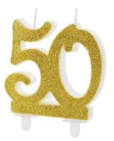 Glossy 50th Birthday Tortenkerze 7,5cm