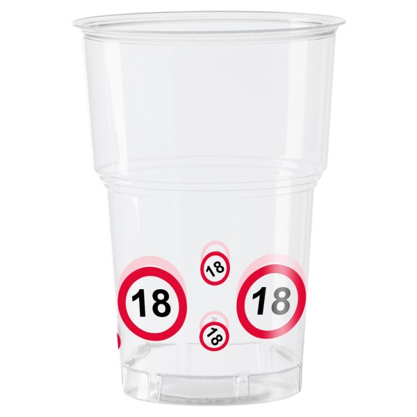10 traffic sign 18 cups 350ml