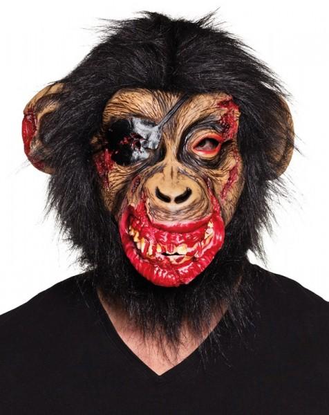 Gewonde horror aap masker met haar