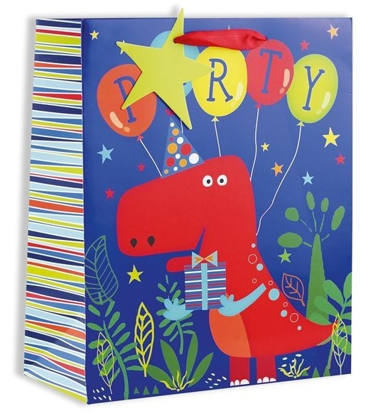 Party Dino gift bag 26.5 x 32.5cm