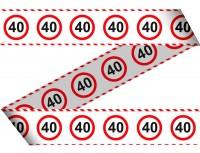 Verkehrsschild 40 Absperrband 15m