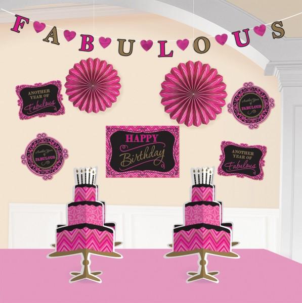 Fabulous Birthday Deko Set 10-teilig