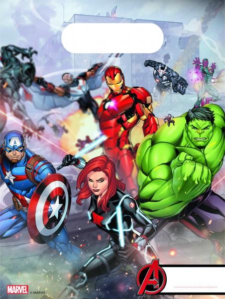 6 The Avengers Marvel Heroes Gift Bag 16,5x21 cm