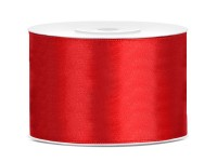 Satin Gift Ribbon Roll Red 25m