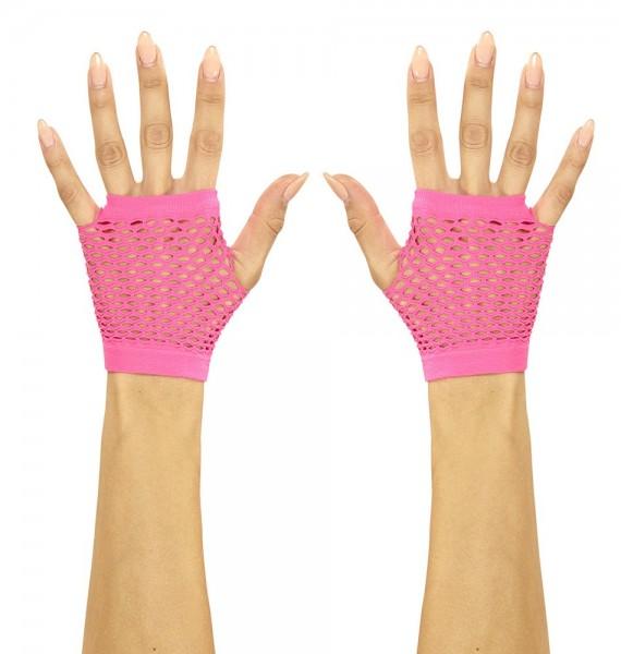 Kurze Netzhandschuhe In Pink