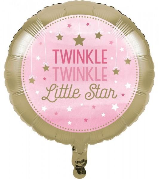 Ballon aluminium Twinkle Baby Girl 46cm