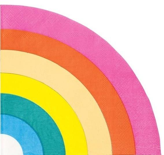16 Rainbow Splash Servietten 29cm